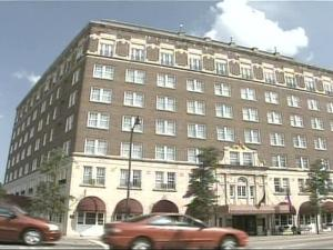The hotel was the centerpiece of a bustling downtown Fayetteville during its heyday.
