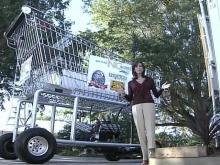 Lynda Loveland Cruises Around State Fair in Giant Cart