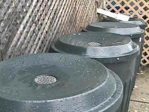 Barrels Help Collect Rare Rainfall in N.C.