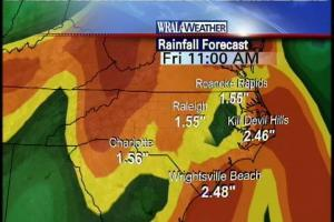 WeatherScope shows that all of North Carolina will get rain by Friday, and many areas will get more than one inch.