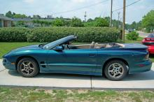 Pfc. Daniel Arrington, 22, was last seen driving this teal green 1995 Pontiac Trans-Am convertible with a tan top. It has stage tags WSX 2420.