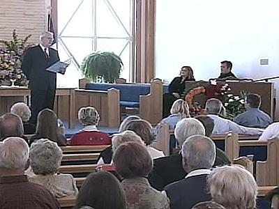 The congregation at the Ocean Isle Beach Chapel held a memorial service for the seven college students killed in a fire at a beach house one week ago Sunday.