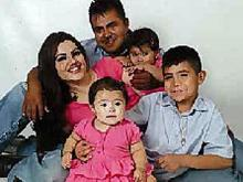 Joaquin Rangel Ramirez with his family.