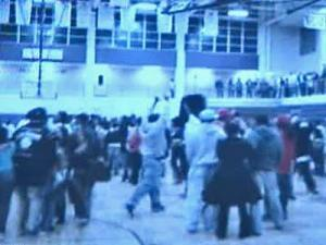 A Shaw University student captured the brawl on video on his digital camera.