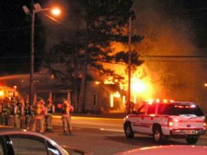 Firefighters battled a fire Tuesday, Dec. 4, 2007, on the corner of Wilmington Avenue and Cumberland Street. (Photo courtesy of: Robert A. Jordan)