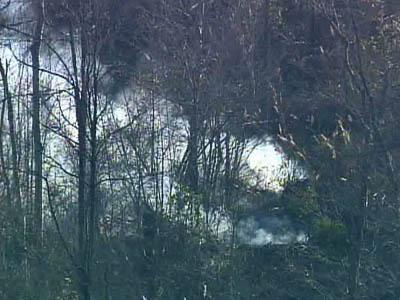 Smoke billows from Jackson Swamp wildfire.