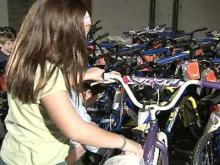 Nonprofit Group Helps Children Gets Bikes for Christmas