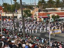 View photos of the the Broughton High School marching band participating in the 2008 Tournament of Roses Parade in Pasadena, Calif.