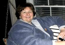 Susan Caldwell, before she lost 123 pounds.