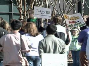 Parents rallied Saturday at Town Hall against the Wake County School reassignment plan.