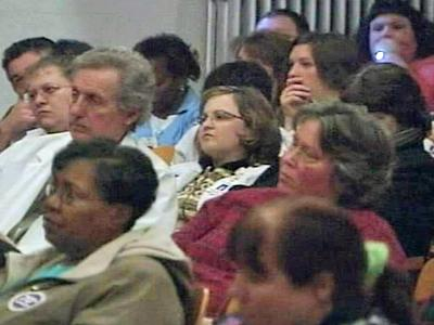 Folks got to speak their minds during a public hearing Wednesday over Franklin Regional Medical Center's proposed move from Louisburg to Youngsville.