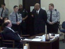Olliver appears in court.