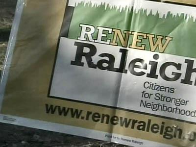 Renew Raleigh sign