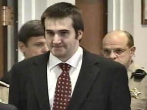 Adam Sapikowski is led into an Orange County courtroom Jan. 25. Sapikowski agreed to a plea deal in the May 2005 shotgun slayings of his parents, whose bodies were hidden for weeks inside the family's upscale Chapel Hill home.