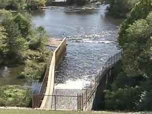 Falls Lake Dam spillway into Neuse River