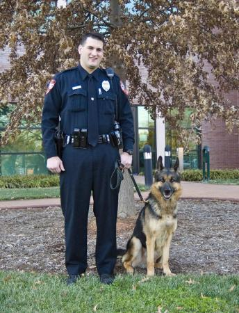 Officer Seth Everett and Axle (Courtesy Cary Police Department)