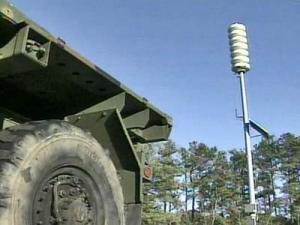 Giant Voice speaker on Fort Bragg