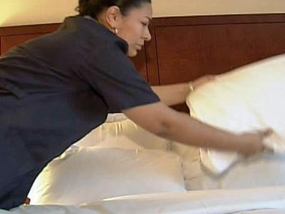 Housekeepers are no longer changing sheets daily at the Raleigh Marriott Crabtree Valley due to the drought.