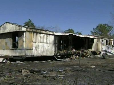 Four people, including three children, were killed when this Robeson County home caught on fire Sunday, Feb. 10, 2008.