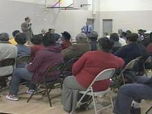 City Leaders Talk With Former Scrap Metal Plant Evacuees