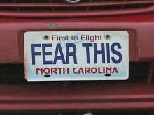 "Durham investigators say this car, with the vanity plate ""Fear This,"" found at a shopping center Tuesday matches a description given by young victims of attempted abductions over the past week."