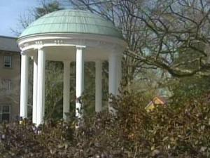 UNC's iconic Old Well appeared as usual Wednesday after a vandal doused it with red paint. University officials think the act was linked to the Tar Heels' matchup with rival N.C. State.