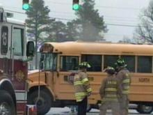 School Bus Crashes in Raleigh; Students, Driver Taken to Hospital