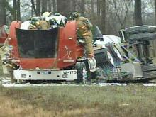 Tanker Overturns in Johnston, Spilling Gasoline