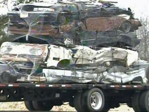 Investigators said Douglas McGee III, of Turkey, used his flatbed truck and trailer to haul away at least a dozen broken-down cars along Interstate 95 and N.C. Highway 24. McGee then sold the cars as scrap metal to salvage yards, including C and R Auto Parts in Turkey.