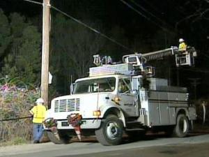 Crews work to restore Verizon landline phone, Internet and TV service after two cables were stolen.