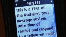 WolfAlert Text Message System