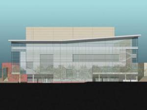 Architect's Computer Rendering of the DPAC from Vivian Street.