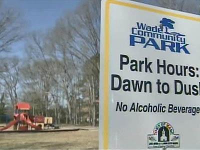 Wade park sign, sex offender ban
