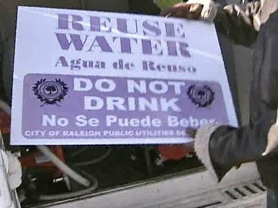 Reuse Water sign