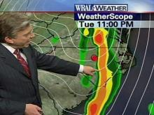 Storm Front Pushes East of Triangle