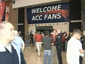 ACC basketball fans are making themselves at home at Charlotte Bobcats Arena.