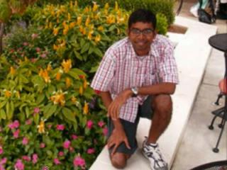 Abhijit Mahato, 29, a Ph.D. engineering candidate from India, was shot to death at an apartment complex on Jan. 18, 2008. (Photo from YouTube)
