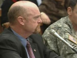 Chris Scheuerman testifies before the U.S. House of Representatives' Armed Services Committee's Military Personnel Subcommittee Friday, March 14, 2008.