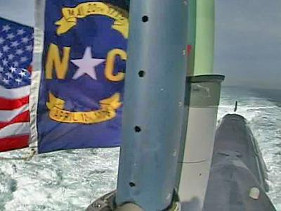 WRAL's Richard Adkins caught a ride on the newly commissioned USS North Carolina.