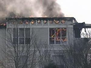 Firefighters spent more than an hour to contain the blaze.