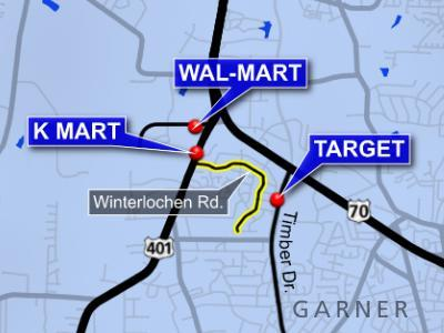 Winterlochen Road has become a popular short-cut for drivers between retail centers in Garner.