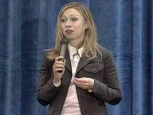 Chelsea Clinton spoke about her mother, presidential candidate Hillary Rodham Clinton, at the annual convention of the Young Democrats of North Carolina in Research Triangle Park on Saturday, March 29, 2008.