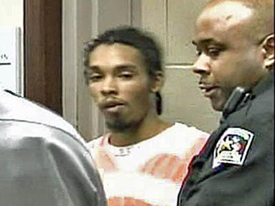 Six deputies flanked Demario James Atwater, 21, of Durham, as he entered the courtroom on March 31, 2008, for a hearing a probation violation stemming from a February 2005 conviction for felony breaking and entering.