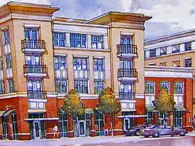 Developer Gordon Smith envisions building a four-story apartment building with about 200 units on a 2-acre lot at Bloodworth and Martin Streets.