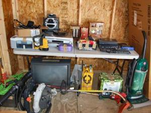 Some of the property stolen in a string of Harnett County burglaries.
