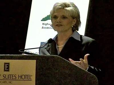 Lt. Gov. Beverly Perdue attended the Transportation Summit on Tuesday.