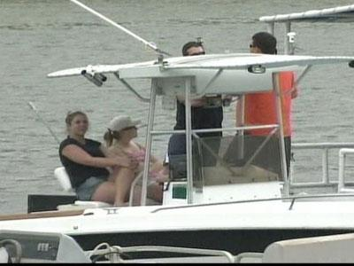 Boaters hit the water on the first day of  boating season.