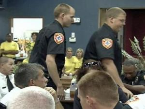 McCall's BBQ and Seafood held a dinner for first responders Tuesday night.