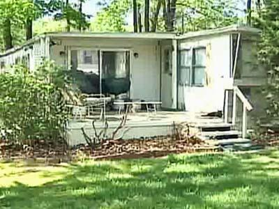 A home in the Homestead Village Mobile Home Community, off Capital Boulevard in north Raleigh.