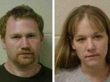Richard Rhodes (left) and Jennifer Adkins face drug and child abuse charges in Sampson County.